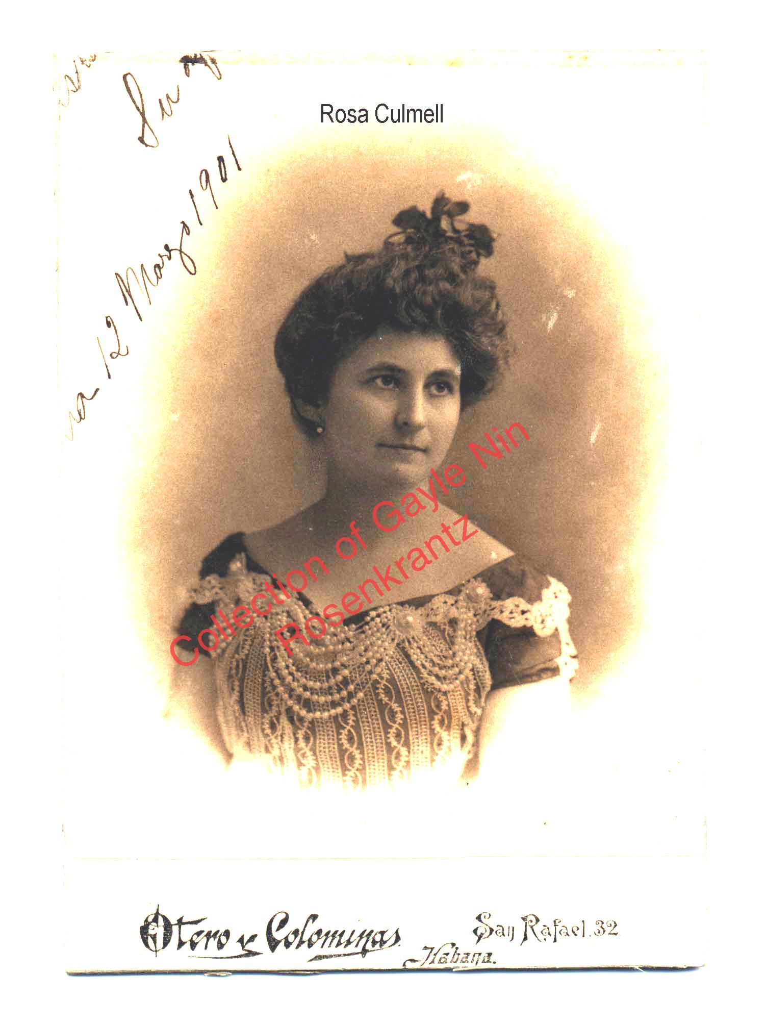 Rosa Culmell, 1901